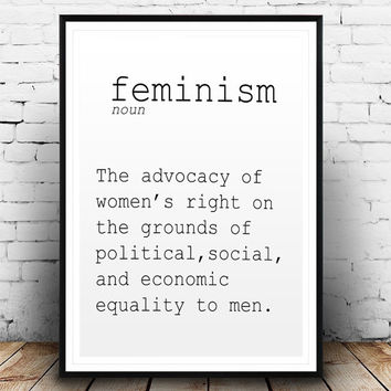DEFINITION OF FEMINISM Funny Wall Art Printable Definition Name Definition Funny Poster Definition Print Definition Poster Typography Print