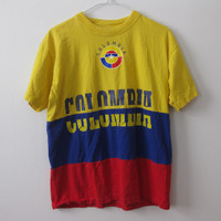 Colombia t-shirt shirt Country Adult Large Medium