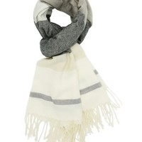 Striped Fringe Blanket Scarf by Charlotte Russe