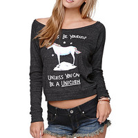 Riot Society Unicorn Long Sleeve Crew Tee at PacSun.com