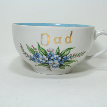 Lefton China Dad / Coffee Cup  Hand Painted