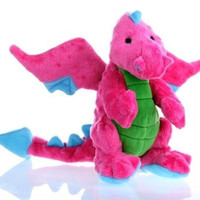 DOG TOYS - PLUSH - GODOG DRAGON DOG TOY  BABY - PINK