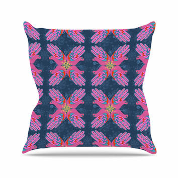"Jane Smith ""Hamsa"" Pink Pattern Throw Pillow"
