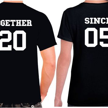 Anniversary Couples - Together Since Shirts. Matching Couples T Shirts