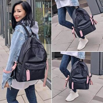 University College Backpack s To School Pink Bow Cute s  Schoolbag  Girls Large Travel Women's  Bag Bolsa MochilaAT_63_4