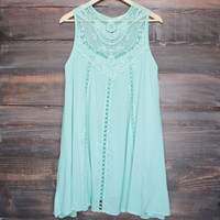 mint boho crochet lace dress