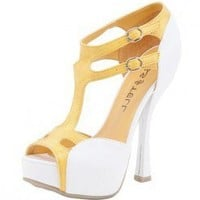 VERY SUMMER FAUX LEATHER T-STRAP SANDAL @ KiwiLook fashion