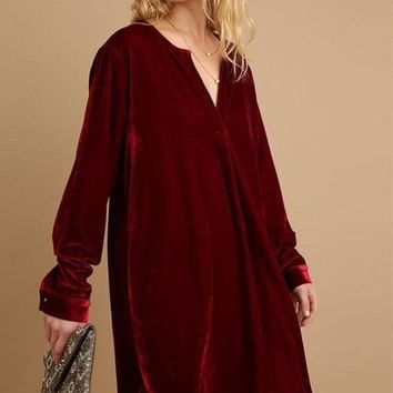 Pauly Velvet Tunic Shift Dress FINAL SALE!