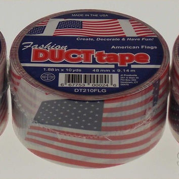 "Lot 3 American Flag Duct Tape Rolls 1.88""x10Yds USA Red White Blue Fashion Craft"