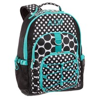 Gear-Up Turquoise Black Dot Backpack