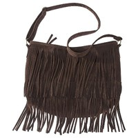 Mossimo Supply Co. Fringe Hobo Handbag - Brown