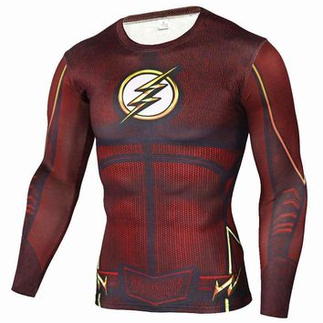 The Flash Superhero Long Sleeve Compression Shirt