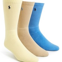 Men's Polo Ralph Lauren Cushioned Crew Socks (3-Pack)