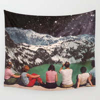 GLACIAL Wall Tapestry by Beth Hoeckel