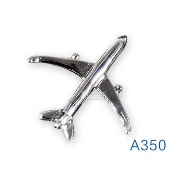 Airbus A350 Badge, Metal, Silver,Plane Shape Brooch, Special Personality Gift  Souvenir  for Filght Crew Pilot  Avaiton Lover