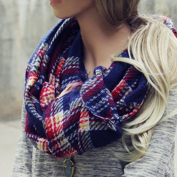 Sweater Weather Plaid Scarf