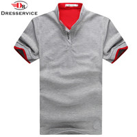 Summer Men Polo Shirt Solid Casual Tee Shirt Tops High Quality Cotton Slim Fit Male Clothing