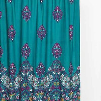 Plum & Bow Blomma Shower Curtain- Teal One