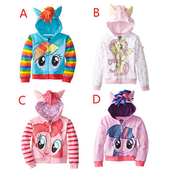 Cartoon Kids Girls and boys jacket Children's Coat Cute Girls Coat,hoodies,girls Cotton Jacket children clothing
