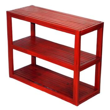 Unique 3-shelf Bamboo Bookcase for Dorm Room, Home Office, Living Room Kids Room
