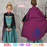 Frozen Elsa Anna Children Long Sleeve Dresses With Cloak Kids Clothing High Quality Party Princess Dress Queen Anna Dressy.