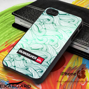 Quiksilver Green Waves for iPhone 4, iPhone 5, iPhone 5c, iPhone 6, iPhone 6 plus, iPod 4, iPod 5, Samsung Galaxy Note 3, Galaxy Note 4, Galaxy S3, Galaxy S4, Galaxy S5, Galaxy S6, Phone Case