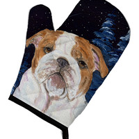 Starry Night English Bulldog Oven Mitt SS8447OVMT