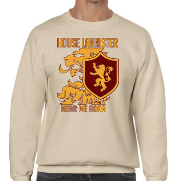 House Lannister hear me roar men sweatshirt