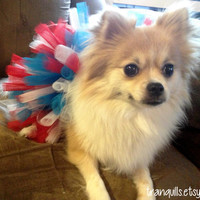 Medium Red White and Blue Fourth of July Dog Tutu by tranquills