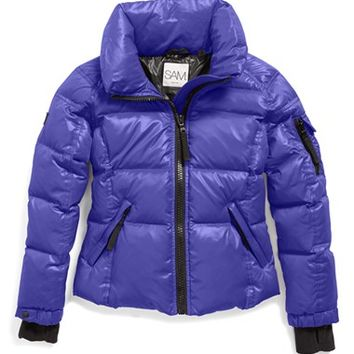 Girl's SAM. 'Freestyle' Water Resistant Quilted Down Jacket,