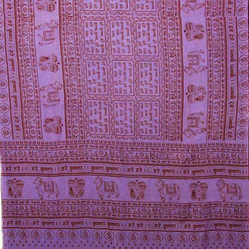 "Maha Mantra 44""x 87"" Purple Prayer Shawl"
