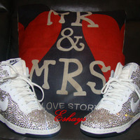Wedding Sneakers Crystal Nike Dunks