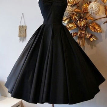 Elegant Black Halter Homecoming Dress