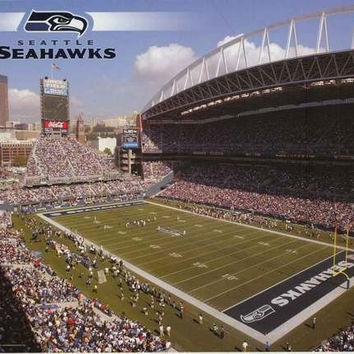 Seattle Seahawks Qwest Field NFL Poster 22x34