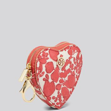 Tory Burch Coin Case - Kerrington Heart Zip Key Fob