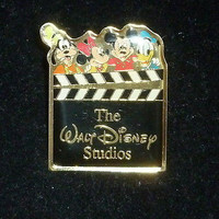Walt Disney Studios Mickey Mouse Pin Features Goofy Minnie Mouse Donald Duck