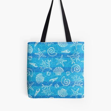 'Crystal Blue Sea' Tote Bag by miavaldez