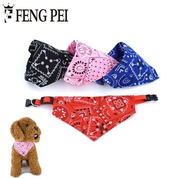 Pet Collars Lovely Adjustable Printing Puppy Necklace Scarf Collar dog bandana Collar Neckerchief collare cane Goods for pets