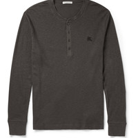 Burberry Brit - Slim-Fit Ribbed Cotton and Wool-Blend Henley T-Shirt | MR PORTER