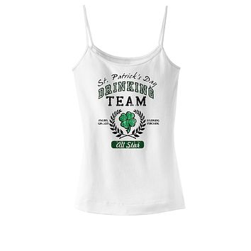 St Patricks Drinking Team Womens Spaghetti Strap Tank Top