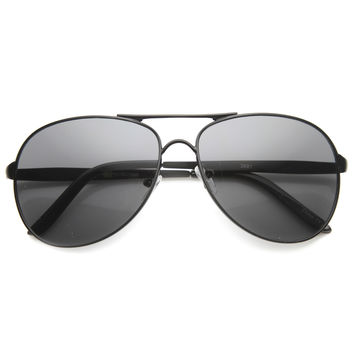 Unisex Aviator Sunglasses With UV400 Protected Composite Lens