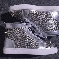 Cl Christian Louboutin Pik Pik Style #1991 Sneakers Fashion Shoes