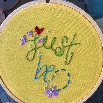 Just Be Mini Embroidery Sampler
