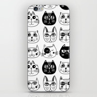 Cats iPhone Skin by Estef Azevedo