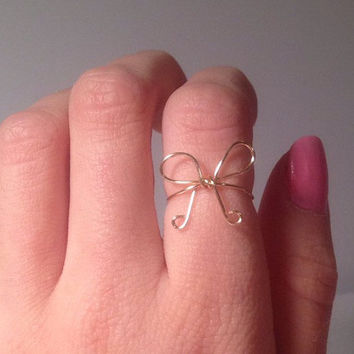 Curly Bow ring