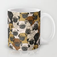 Social Pugz Mug by Huebucket