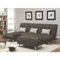 Coaster Company Ellwood Chaise/Bed, Brown - Walmart.com