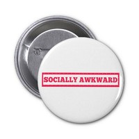 Socially Awkward Stamp Pinback Button