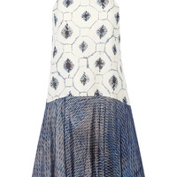 Tibi - Printed cotton and silk-blend dress