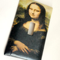 Single Light Switch Plate Cover--Mona Lisa // Fine Art // Da Vinci // Renaissance